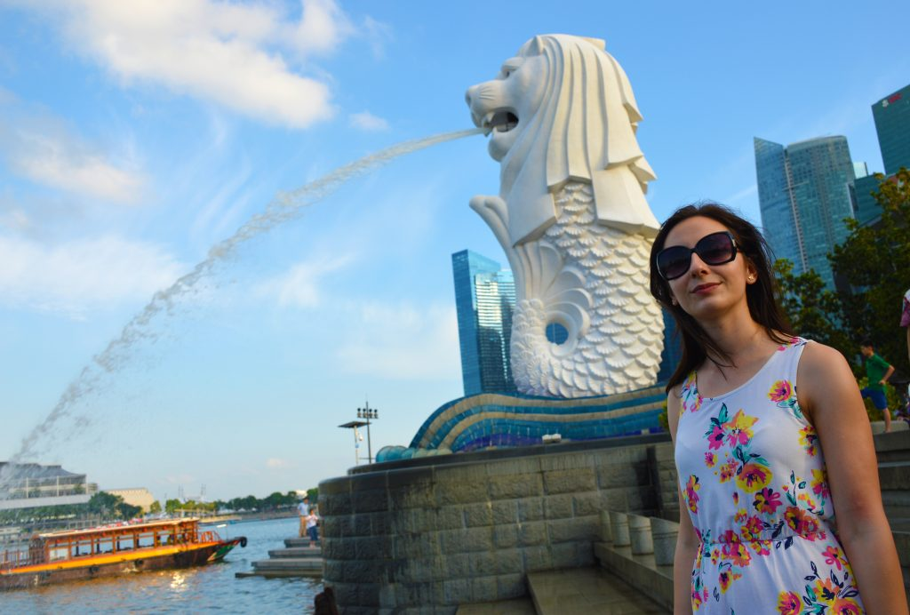 Merlion park Marina bay sands