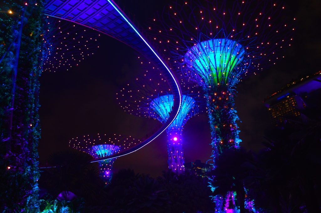 Gardens by the Bay light show singapore