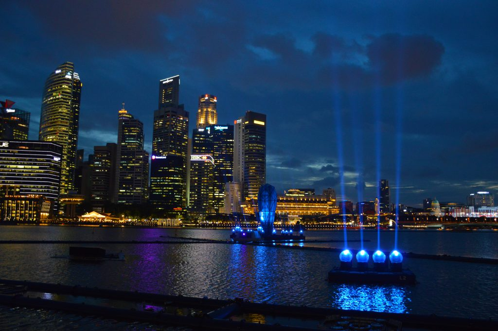 Marina bay Sands light show singapore